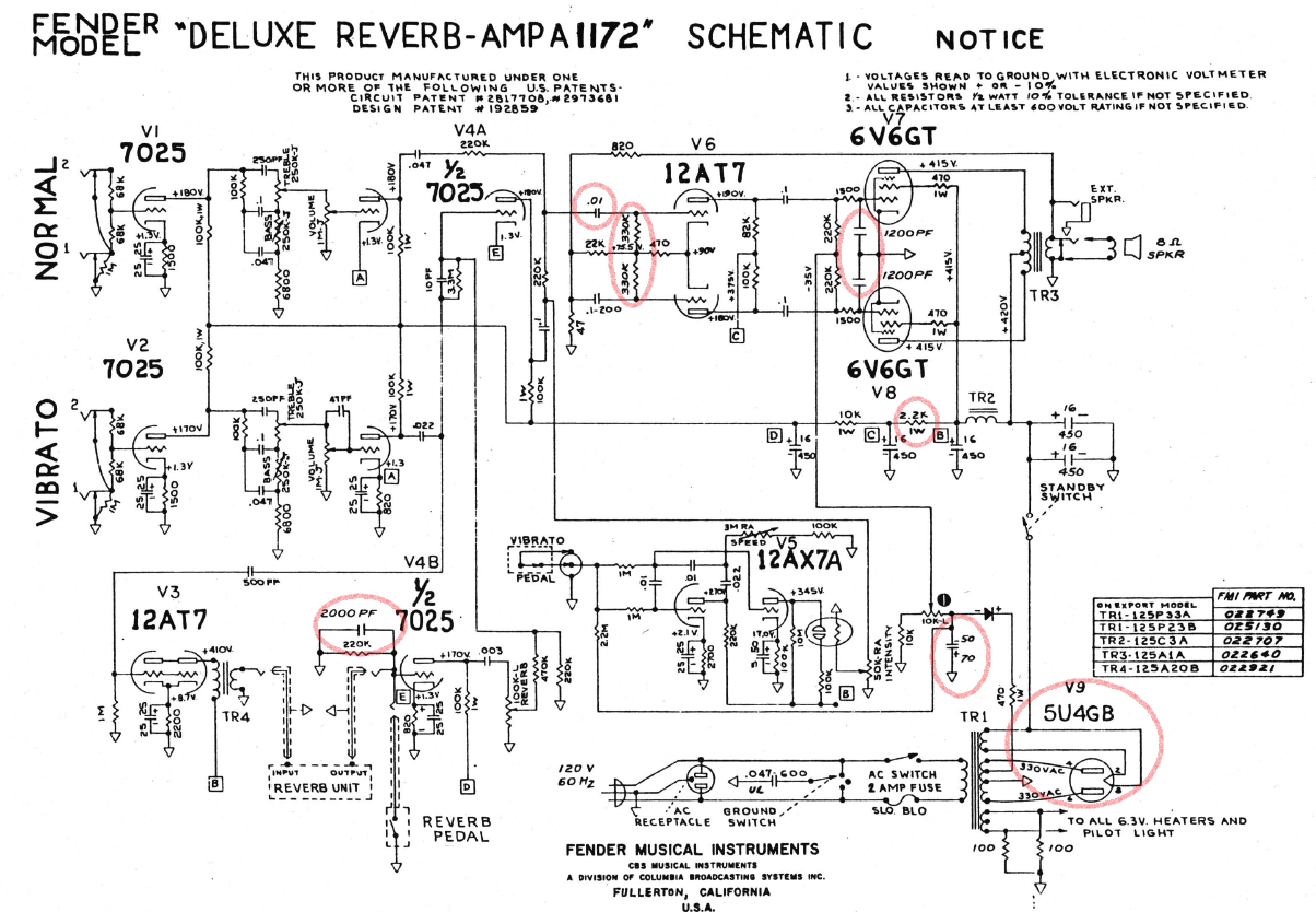 fender hot rod deluxe tube schematic  fender  free engine