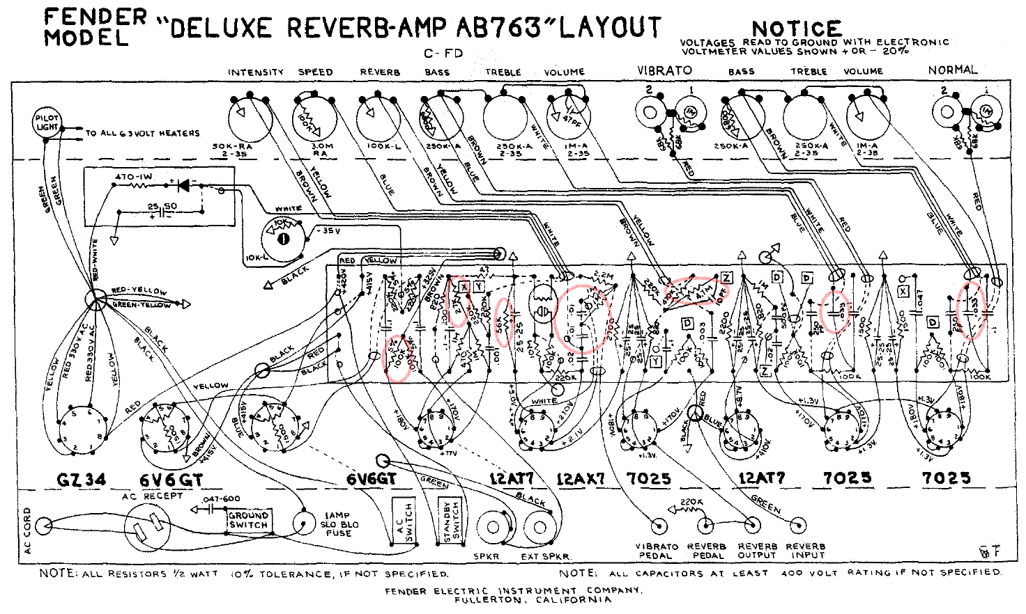 Fender Amp Wiring Diagrams - Wiring Diagrams on