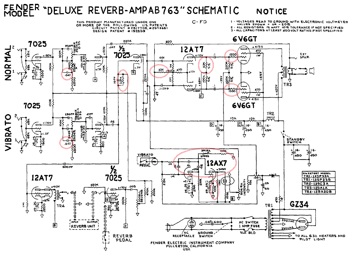 Bf Sf Deluxe Reverb Stratocaster Mod Wiring Dual Capacitors Youtube Layout