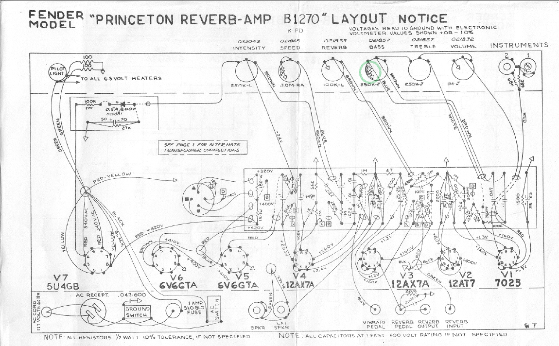Bf Sf Deluxe Reverb Pre Tone Control Circuit