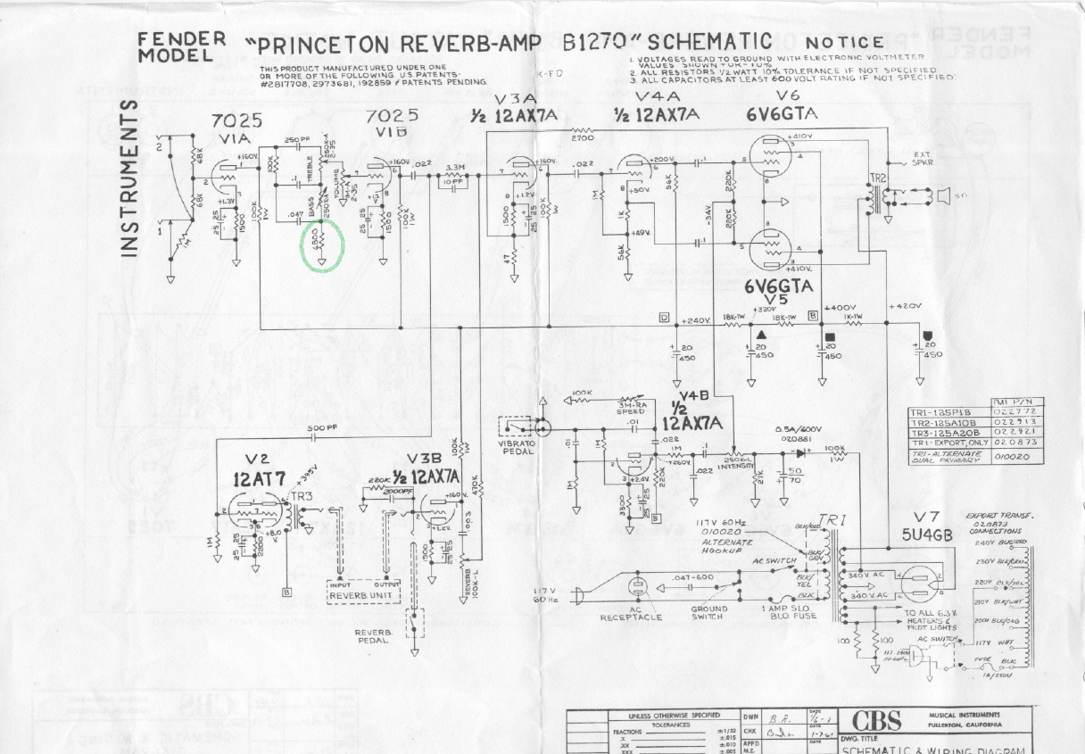 Bf Sf Vibrolux Reverb Volume And Tone Wiring Schematic Layout