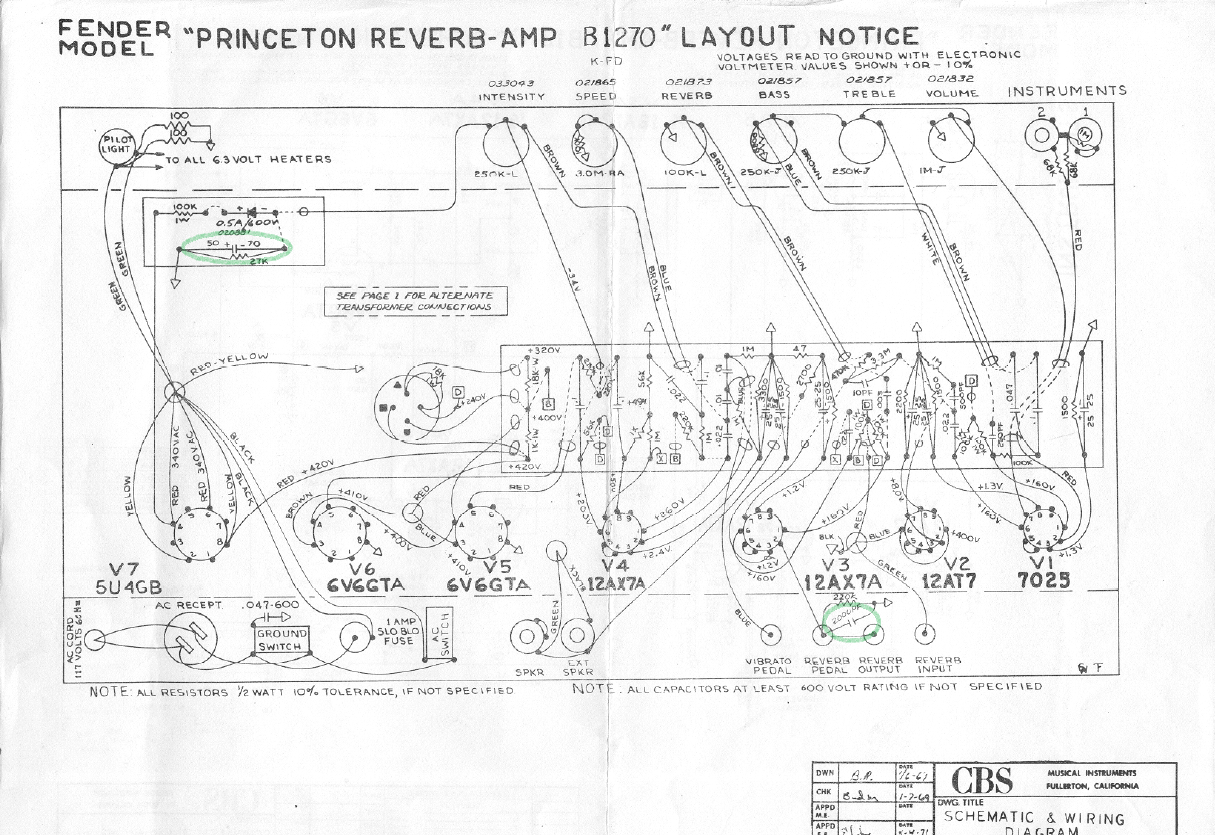 bf sf princeton reverb fenderguru com fender blues junior wiring diagram fender princeton wiring diagram #25