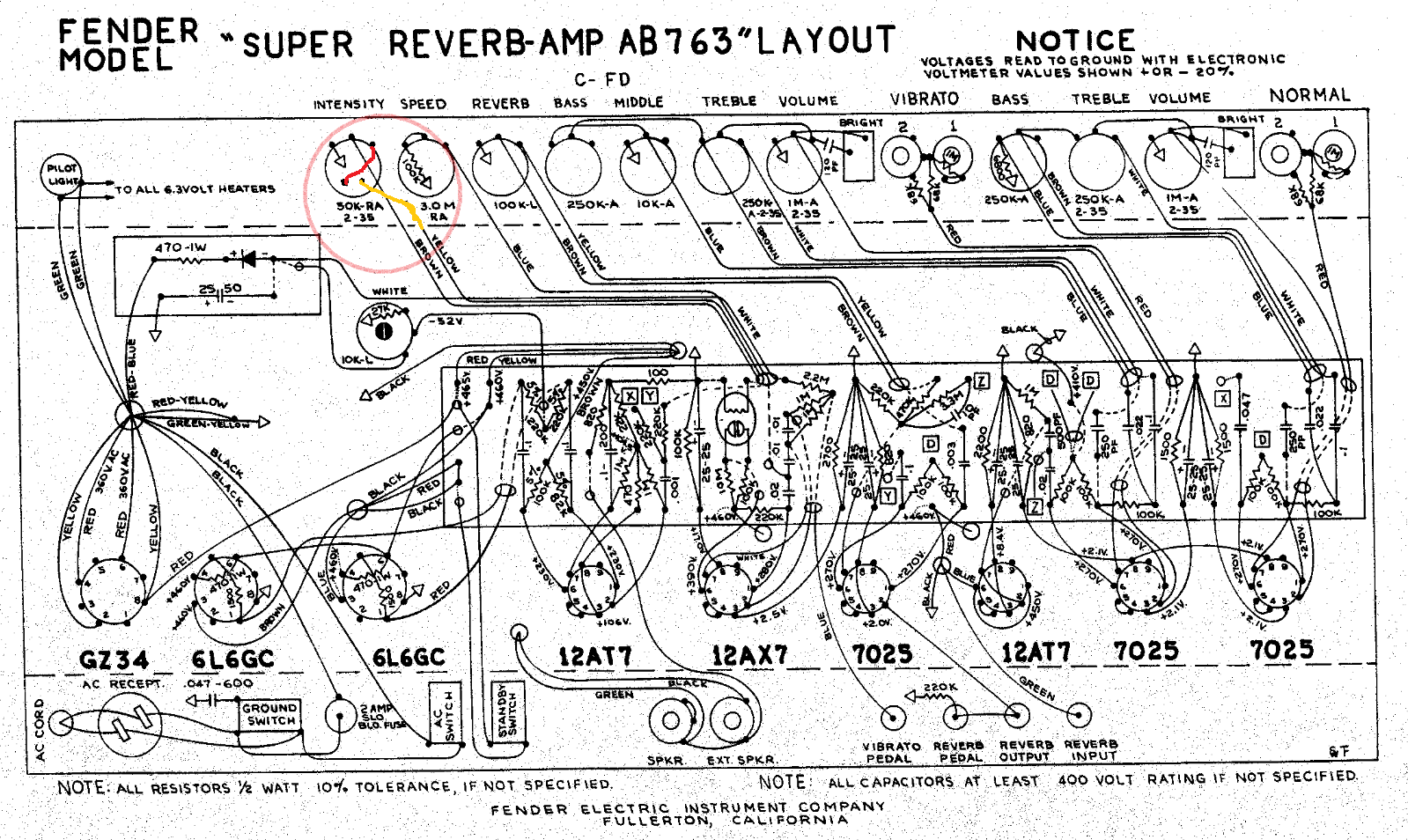 Bf Sf Super Reverb 1960 Fender Stratocaster Wiring Diagram Rectifier Tube