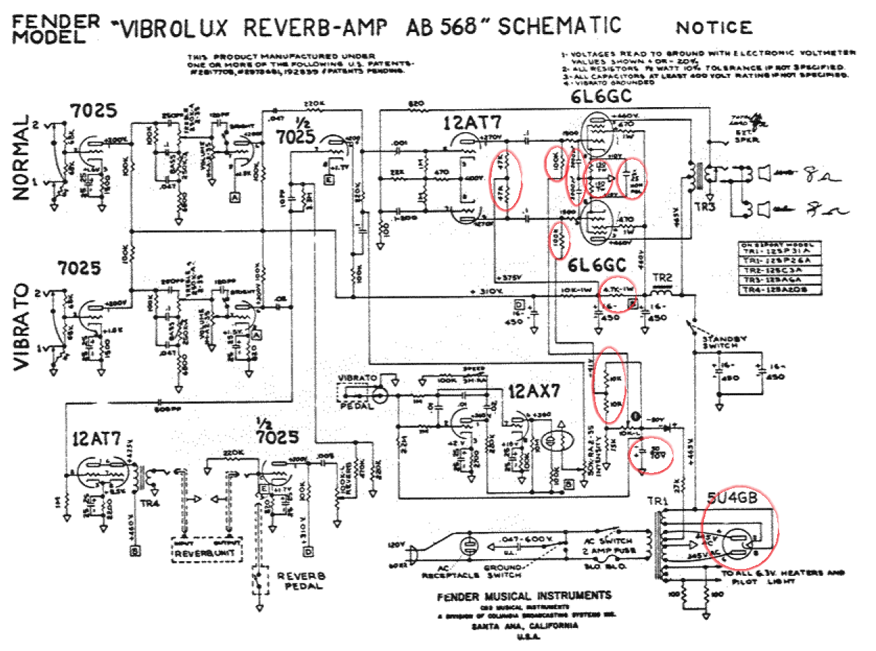 Fender Vibrolux Reverb Amp Schematic Wiring Data Mtx 2300x Wire Diagram Bf Sf Fenderguru Com Rh Custom