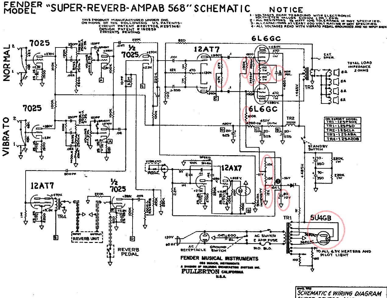 bf sf super reverb fenderguru com  at Fender 1973 Super Reverb Spekeaker Wiring Diagram