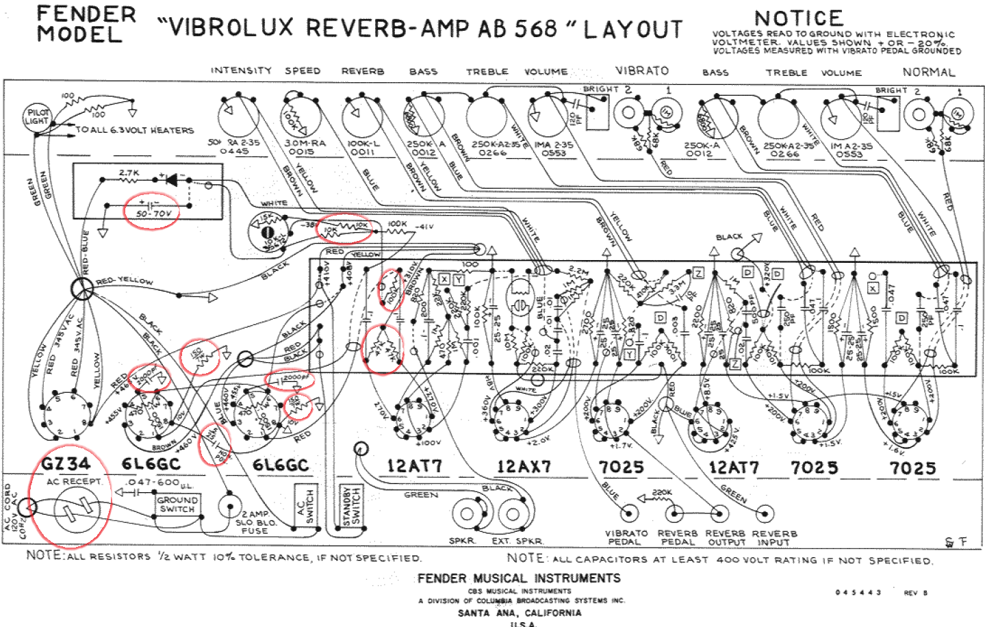 fender 1973 super reverb speaker wiring diagram   47